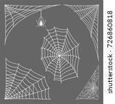spider web silhouette arachnid... | Shutterstock .eps vector #726860818