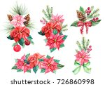 christmas bouquets of... | Shutterstock . vector #726860998