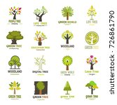 green tree logo badge green... | Shutterstock .eps vector #726861790