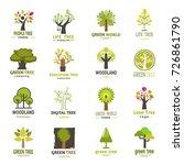 green tree logo badge green... | Shutterstock .eps vector #726861790