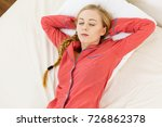 relax rest sleep positions... | Shutterstock . vector #726862378
