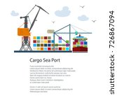 cargo seaport and text ... | Shutterstock .eps vector #726867094