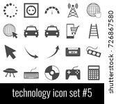 technology. icon set 5. gray... | Shutterstock .eps vector #726867580