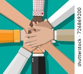 people showing unity with their ... | Shutterstock .eps vector #726869200