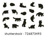cute red panda animal cartoon... | Shutterstock . vector #726873493