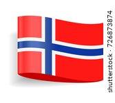 norway flag vector icon  ...   Shutterstock .eps vector #726873874