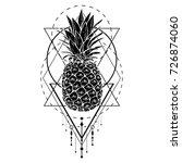 image of black white pineapple... | Shutterstock .eps vector #726874060