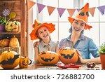 mother and her daughter having... | Shutterstock . vector #726882700