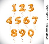raster copy orange number 1  2  ... | Shutterstock . vector #726882823