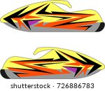 snowmobile  snow machine ... | Shutterstock .eps vector #726886783