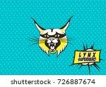 lynx superhero  style comics ...   Shutterstock .eps vector #726887674