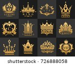 crown vintage premium golden... | Shutterstock .eps vector #726888058