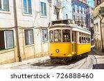 vintage tram in the city center ... | Shutterstock . vector #726888460