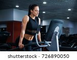 fit healthy sporty woman doing...   Shutterstock . vector #726890050