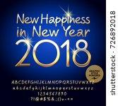 vector golden happy new year... | Shutterstock .eps vector #726892018