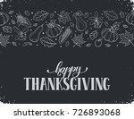 happy thanksgiving day. hand... | Shutterstock .eps vector #726893068