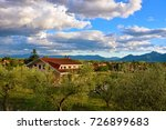 panorama of the countryside of... | Shutterstock . vector #726899683