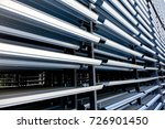 close up view of silver metal... | Shutterstock . vector #726901450