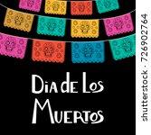 dia de los muertos  mexican day ... | Shutterstock .eps vector #726902764