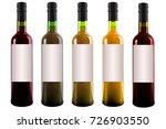 set of wine bottles isolated on ... | Shutterstock . vector #726903550