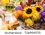 autumn bouquets on a flower... | Shutterstock . vector #726904570