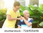asian old man shoulder pain ... | Shutterstock . vector #726905698