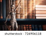 statue of justice on library... | Shutterstock . vector #726906118