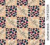 coffee bean seamless pattern... | Shutterstock . vector #726910234