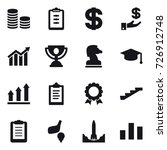 16 vector icon set   coin stack ... | Shutterstock .eps vector #726912748