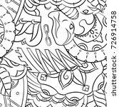 seamless mehndi vector pattern. ...   Shutterstock .eps vector #726914758