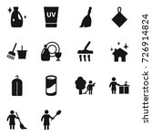 16 vector icon set   cleanser ... | Shutterstock .eps vector #726914824