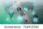 smart transportation and... | Shutterstock . vector #726915283