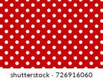 red polka dot seamless pattern. ... | Shutterstock .eps vector #726916060