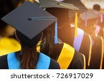 graduates in university degree... | Shutterstock . vector #726917029