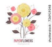 paper flowers background with... | Shutterstock .eps vector #726919348