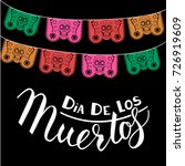 mexican day of the death poster ... | Shutterstock .eps vector #726919609