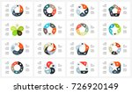 vector circle arrows geometric... | Shutterstock .eps vector #726920149