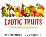 exotic tropical fruits poster... | Shutterstock .eps vector #726920344