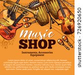 Music Shop Sketch Poster Of...