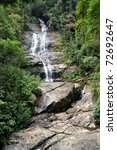 Tropical Waterfall - stock photo