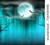 spooky halloween background... | Shutterstock . vector #726930448