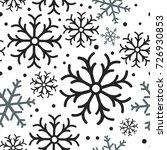 snowflake simple seamless... | Shutterstock .eps vector #726930853