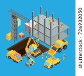 building construction stage.... | Shutterstock .eps vector #726932050