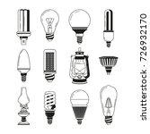 monochrome symbols of light.... | Shutterstock .eps vector #726932170