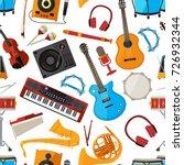 speakers  amplifier ... | Shutterstock .eps vector #726932344
