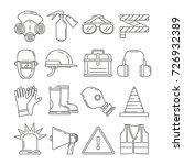 symbols of safety work.... | Shutterstock .eps vector #726932389