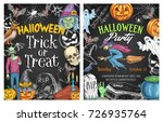 halloween holiday horror party... | Shutterstock .eps vector #726935764
