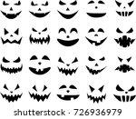 black isolated halloween... | Shutterstock .eps vector #726936979