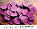closeup of sliced molokai... | Shutterstock . vector #726937093