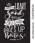 hand lettering a joyful heart... | Shutterstock .eps vector #726938434